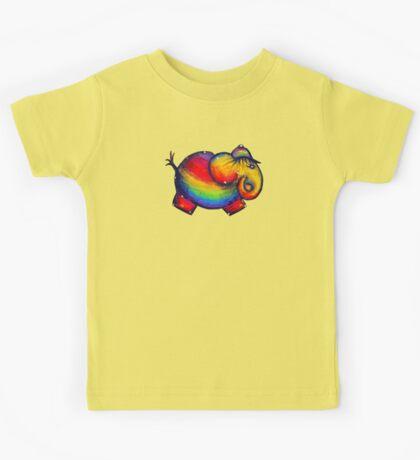Rainbow Elephant Tshirt Kids Clothes