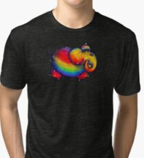 Rainbow Elephant Tshirt Tri-blend T-Shirt