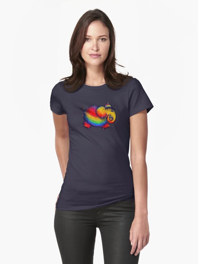 Rainbow Elephant Tshirt by © Karin Taylor