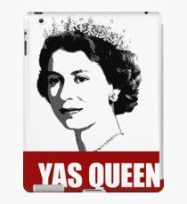 Yas Queen Elizabeth II United Kingdom red white black netflix crown yass  iPad Case/Skin