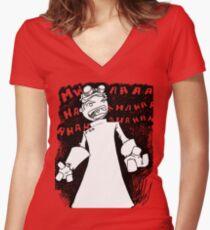 Doctor Horrible - Transparent Evil Laugh Women's Fitted V-Neck T-Shirt
