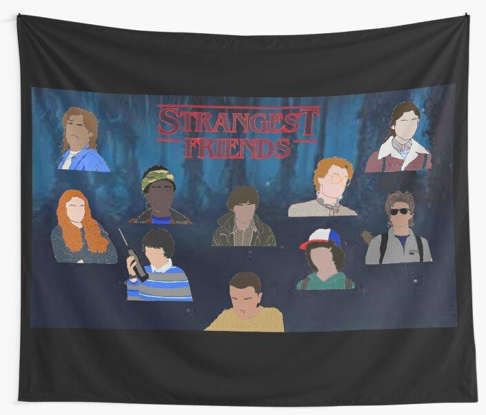 Stranger Things Strangest Friends Poster By XxxLemonadeTM Designs