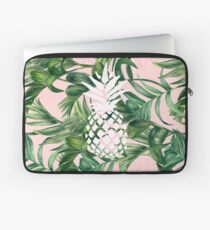 White Pineapple on Tropical Design Laptop Sleeve