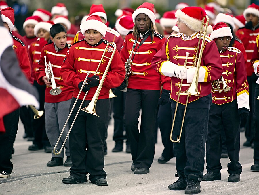 Trombones and Santa Hats by Kurt Kamka