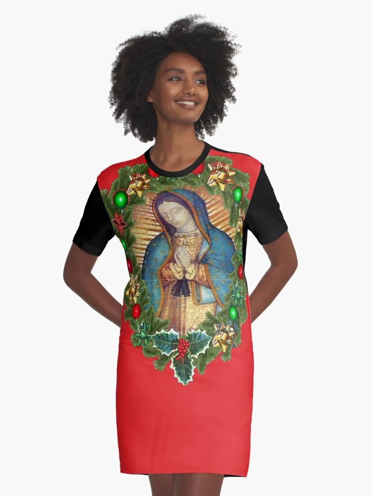 Vestido Camiseta Guadalupe Nuestra Señora De La Virgen María México Camisa Católica De Hispanicworld