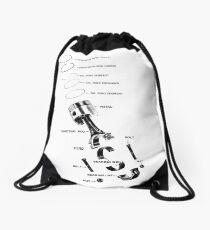 Engine Piston Drawstring Bag