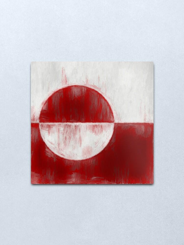 Alternate view of Greenland Flag Reworked No. 1, Series 2 Metal Print