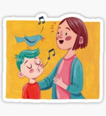 Birdsong Learning- Parent and Child Sticker