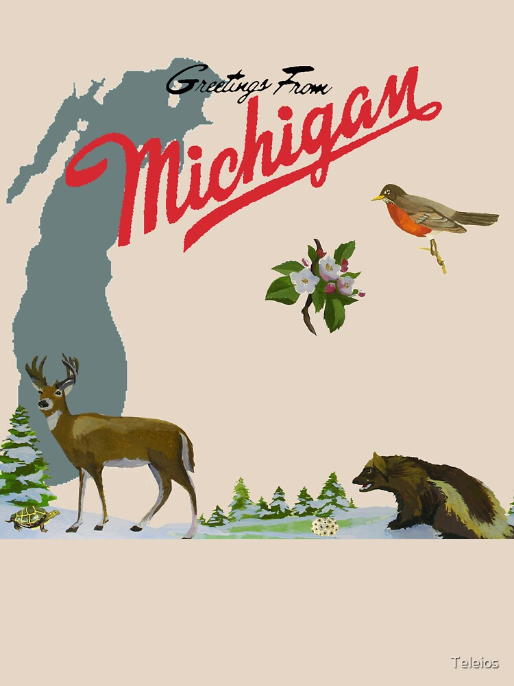 Greetings from michigan classic t shirt by teleios redbubble greetings from michigan by teleios m4hsunfo