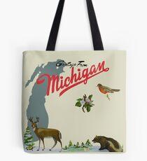 Greetings From Michigan! Tote Bag