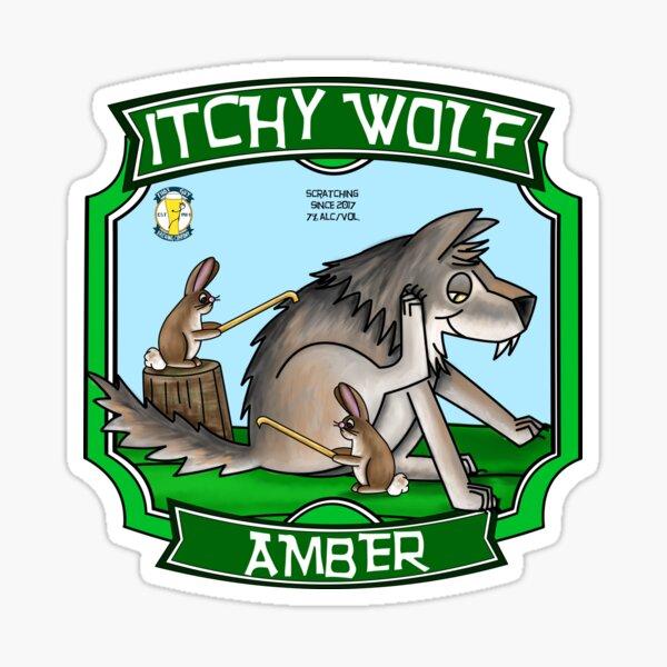 Itchy Wolf Amber Sticker