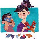 Lernen von Kunst - Eltern und Chlid von Meghan Zaremba