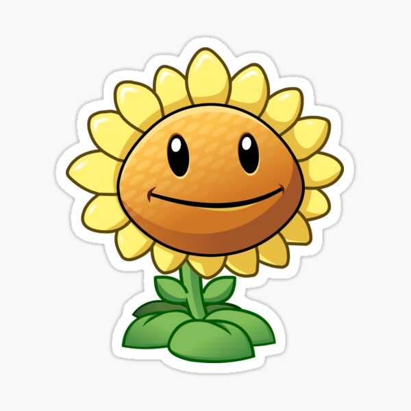 Sunflower from Plants vs Zombies Sticker