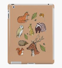 Woodland Wildlife Pattern iPad Case/Skin