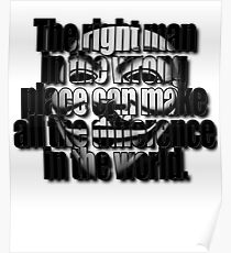 Guy Fawkes Mask Quotable Poster