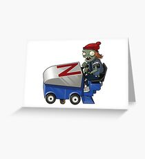 Zamboni Zombie from Plants vs Zombies Greeting Card