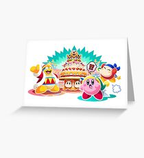 Kirby Party! Greeting Card