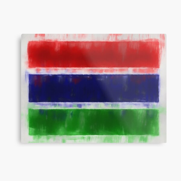The Gambia Flag Reworked No. 66, Series 1 Metal Print