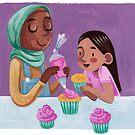 Backen Cupcakes - Eltern und Kind von Meghan Zaremba
