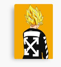 Goku SSJ Off-White Canvas Print