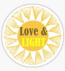 Love and Light Sun Sunbeam Cheery and Bright Sun Ray Sol Sticker