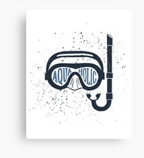 Aquaholic Swim Mask for Swimmers & Ocean Explorers Canvas Print