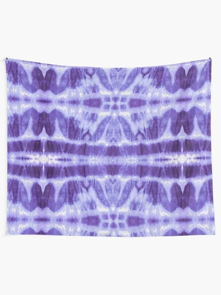 Alternate view of Tie Dye Violet Twos Tapestry