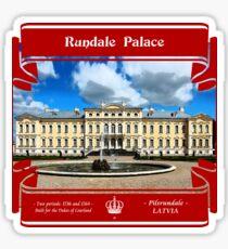 Rundale Palace of Latvia Sticker