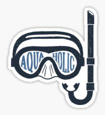 Aquaholic Swim Mask and Snorkel for Swimmers & Ocean Explorers Sticker