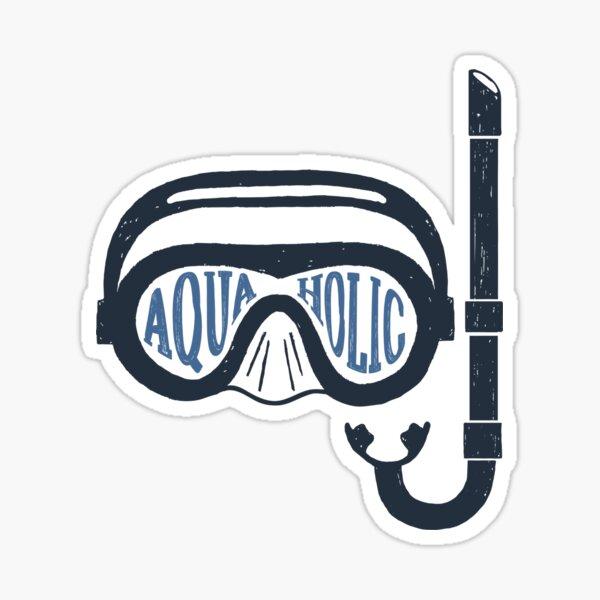 Aquaholic Swim Mask and Snorkel for Swimmers & Ocean Explorers Sticker