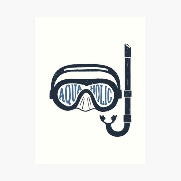 Aquaholic Swim Mask and Snorkel for Swimmers & Ocean Explorers Art Print