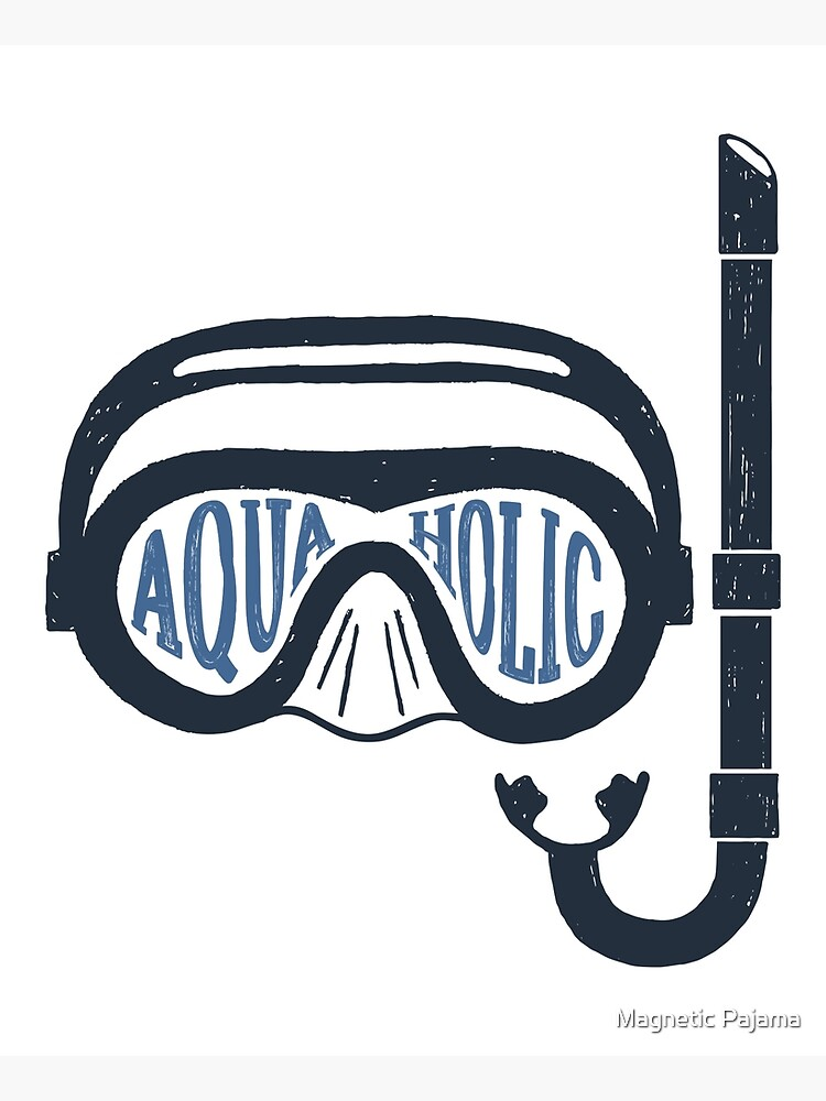 Aquaholic Swim Mask and Snorkel for Swimmers & Ocean Explorers by MagneticMama