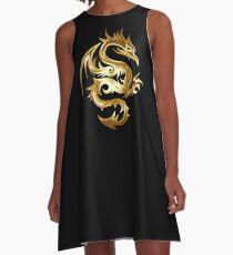 Golden Dragon A-Line Dress