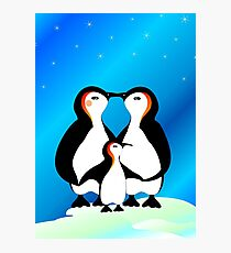 The cutest penguin family. Photographic Print