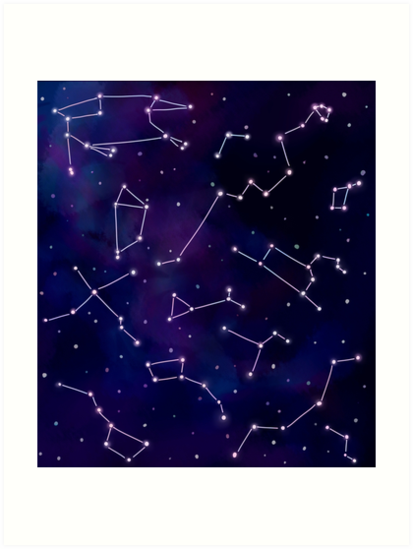 Constellations and the Night Sky by jkcaoart