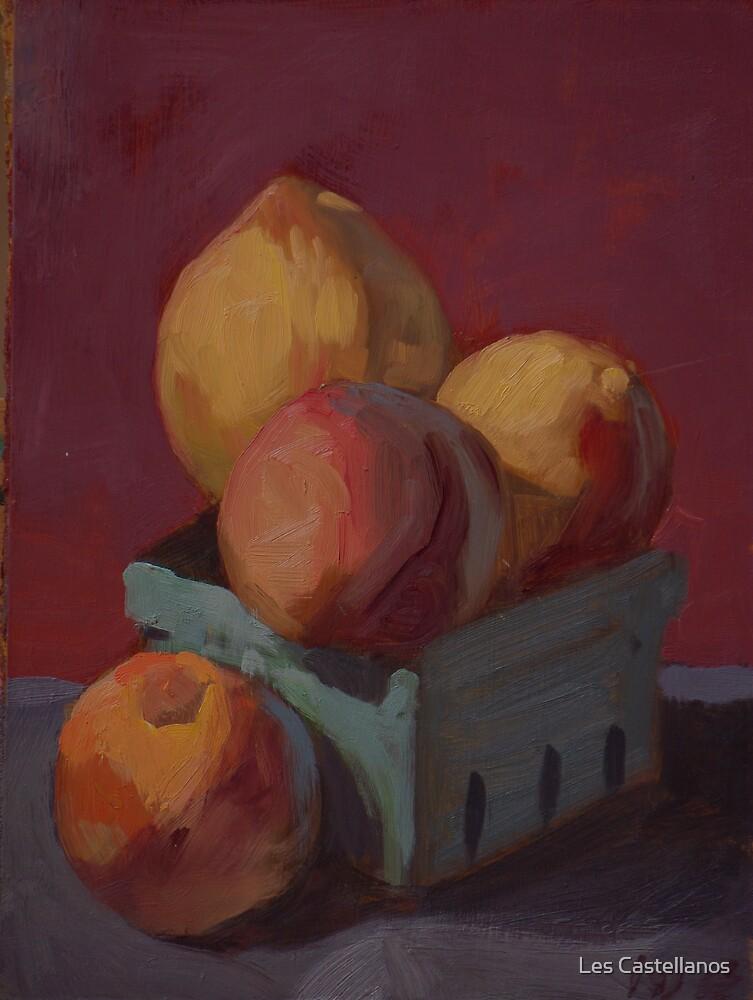 box of peaches by Les Castellanos