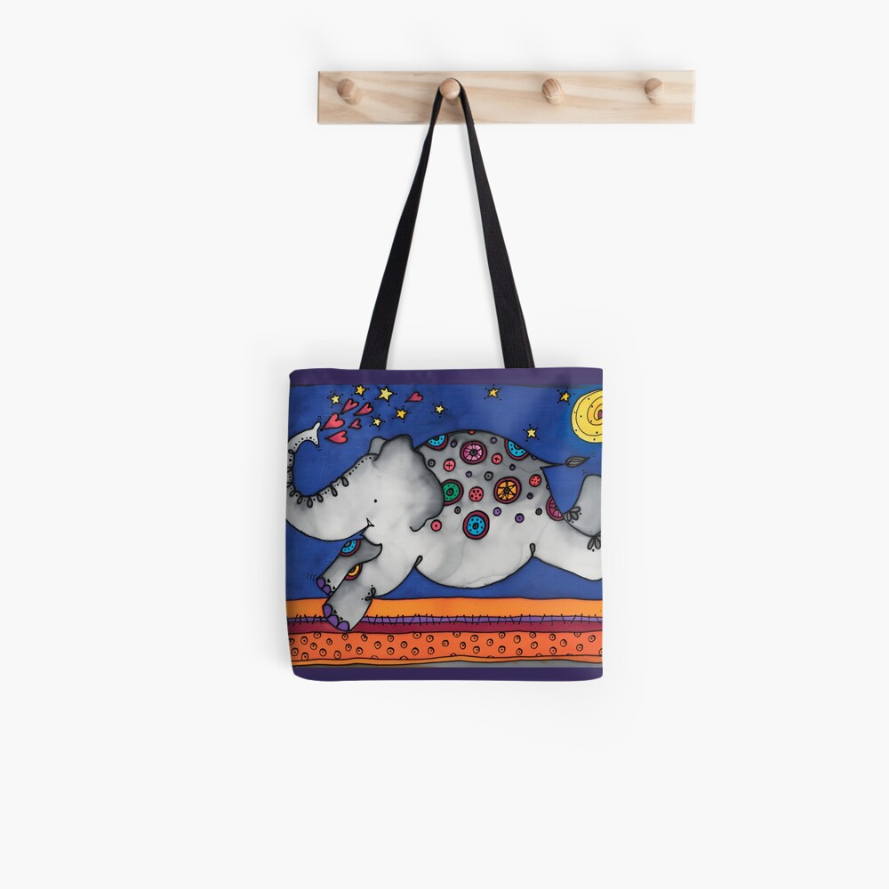 Whimsical elephant, Felicity, will make you smile Tote Bag