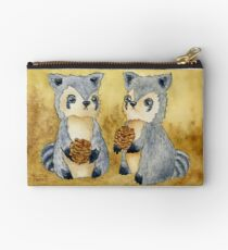 Silly Raccoons & Pinecones Studio Pouch