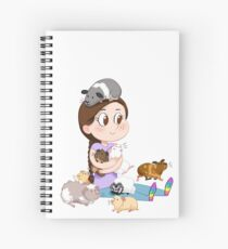 Crazy Guinea Pig Lady (on my own terms) Spiral Notebook