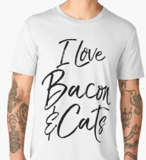 I Love Bacon & Cats Men's Premium T-Shirt