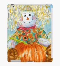 Scarecrow Girl Doll & Pumpkin iPad Case/Skin