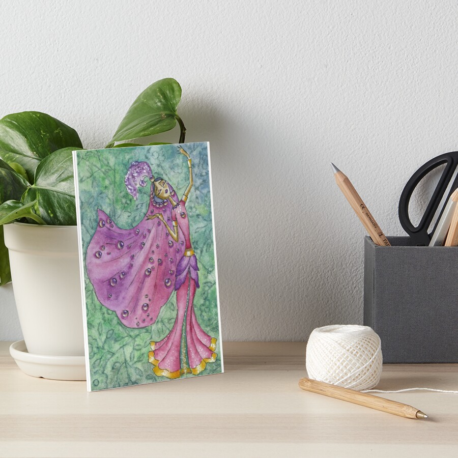 Spring Flower Nymph Art Board Print
