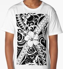 Hawaiian style tribal 2 Long T-Shirt