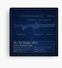 DC-15A Blaster Rifle Blueprint Canvas Print