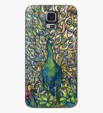 Stained Glass Peacock Case/Skin for Samsung Galaxy