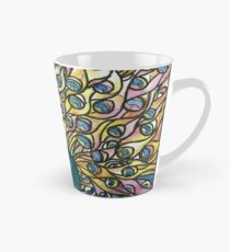 Stained Glass Peacock Tall Mug