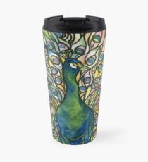 Stained Glass Peacock Travel Mug
