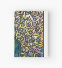 Stained Glass Peacock Hardcover Journal