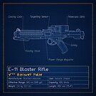 E-11 Blaster Rifle Blueprint by nothinguntried