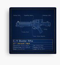 E-11 Blaster Rifle Blueprint Canvas Print
